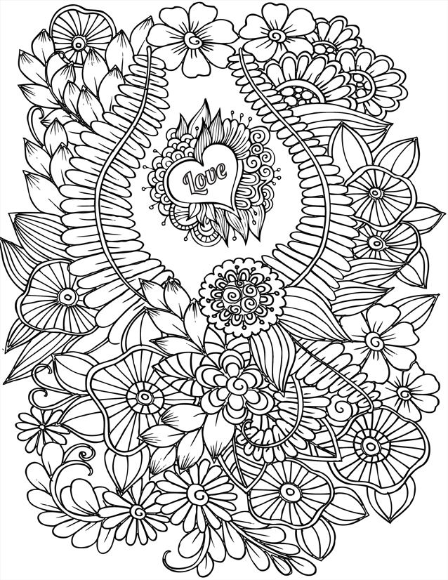 taking care flower coloring pages - photo#41