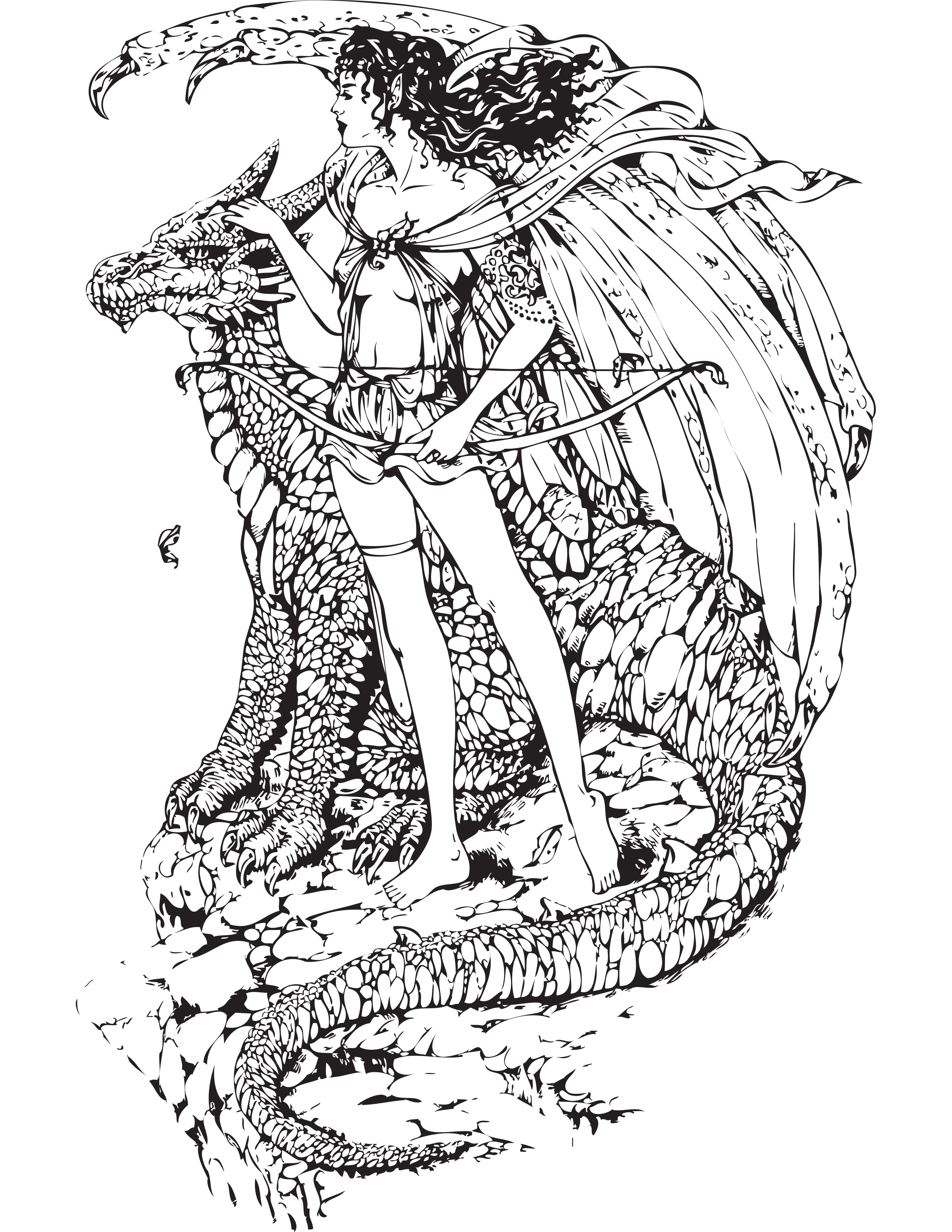Once There Were Dragons A Whimsical Coloring Book